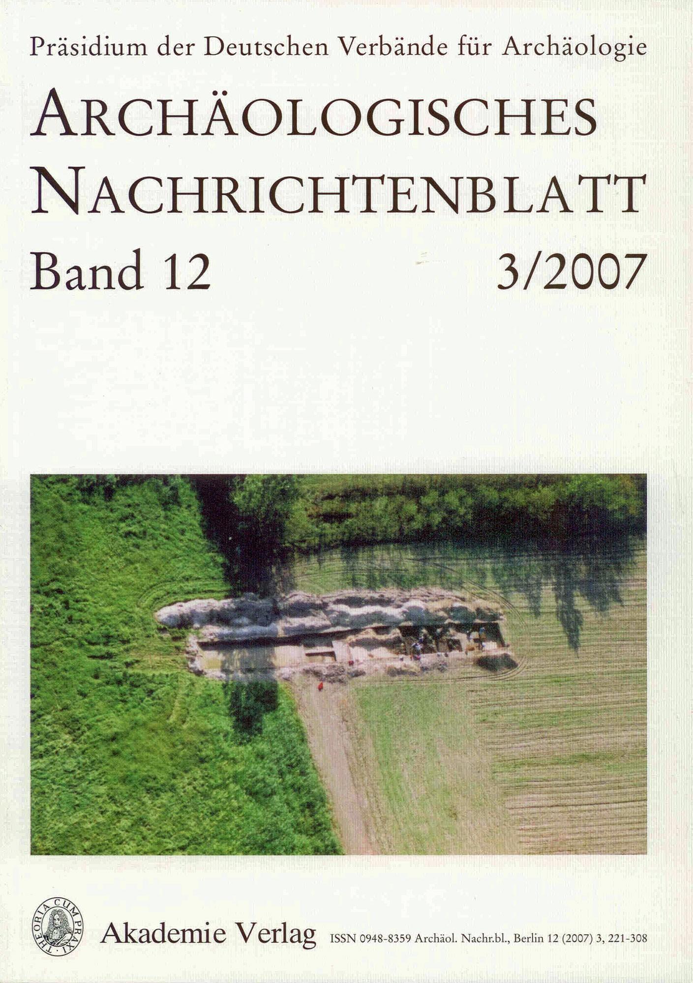 Archäologisches Nachrichtenblatt: Band 12  Heft 3/2007
