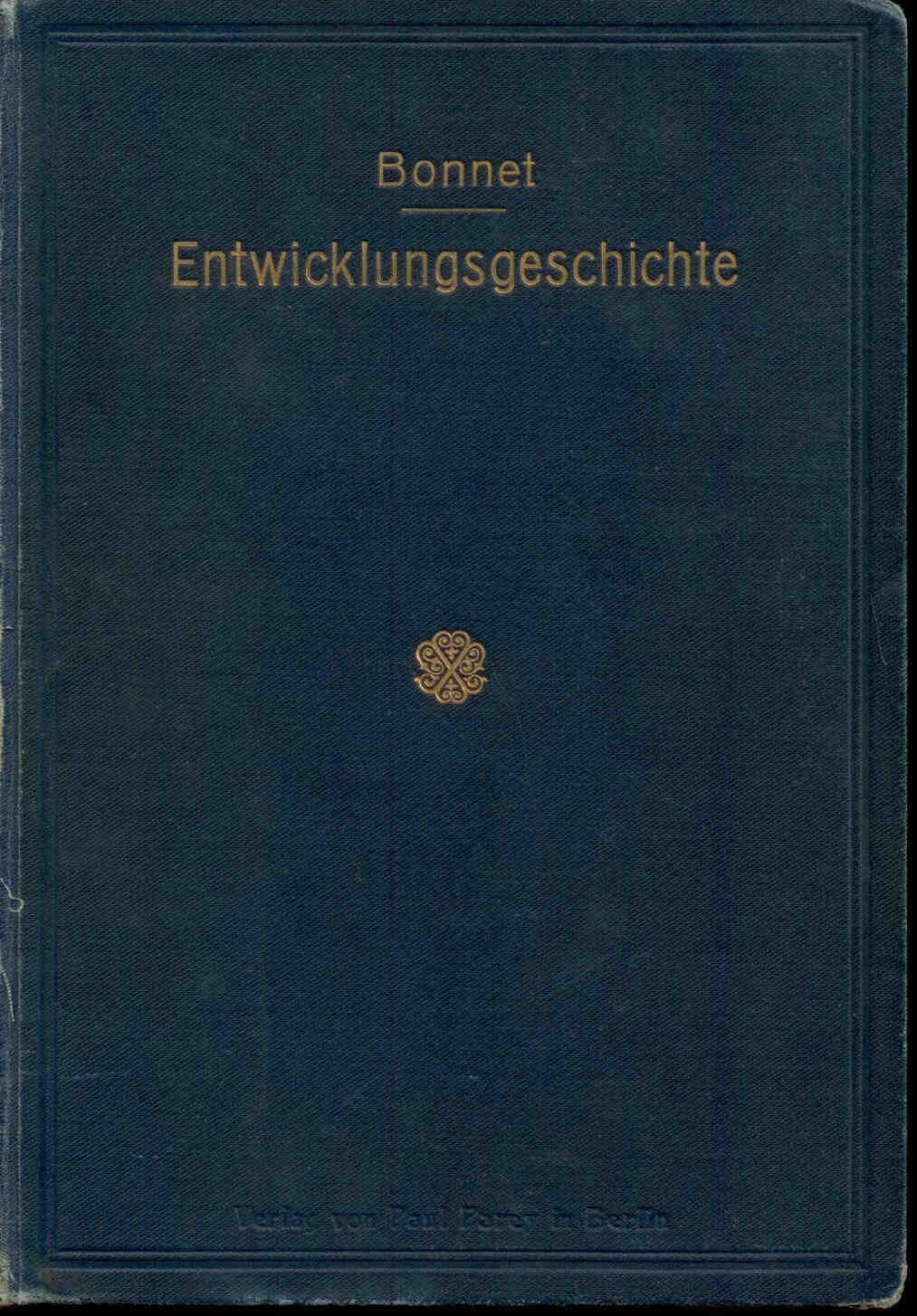 Bonnet, R.: Lehrbuch der Entwicklungsgeschichte.