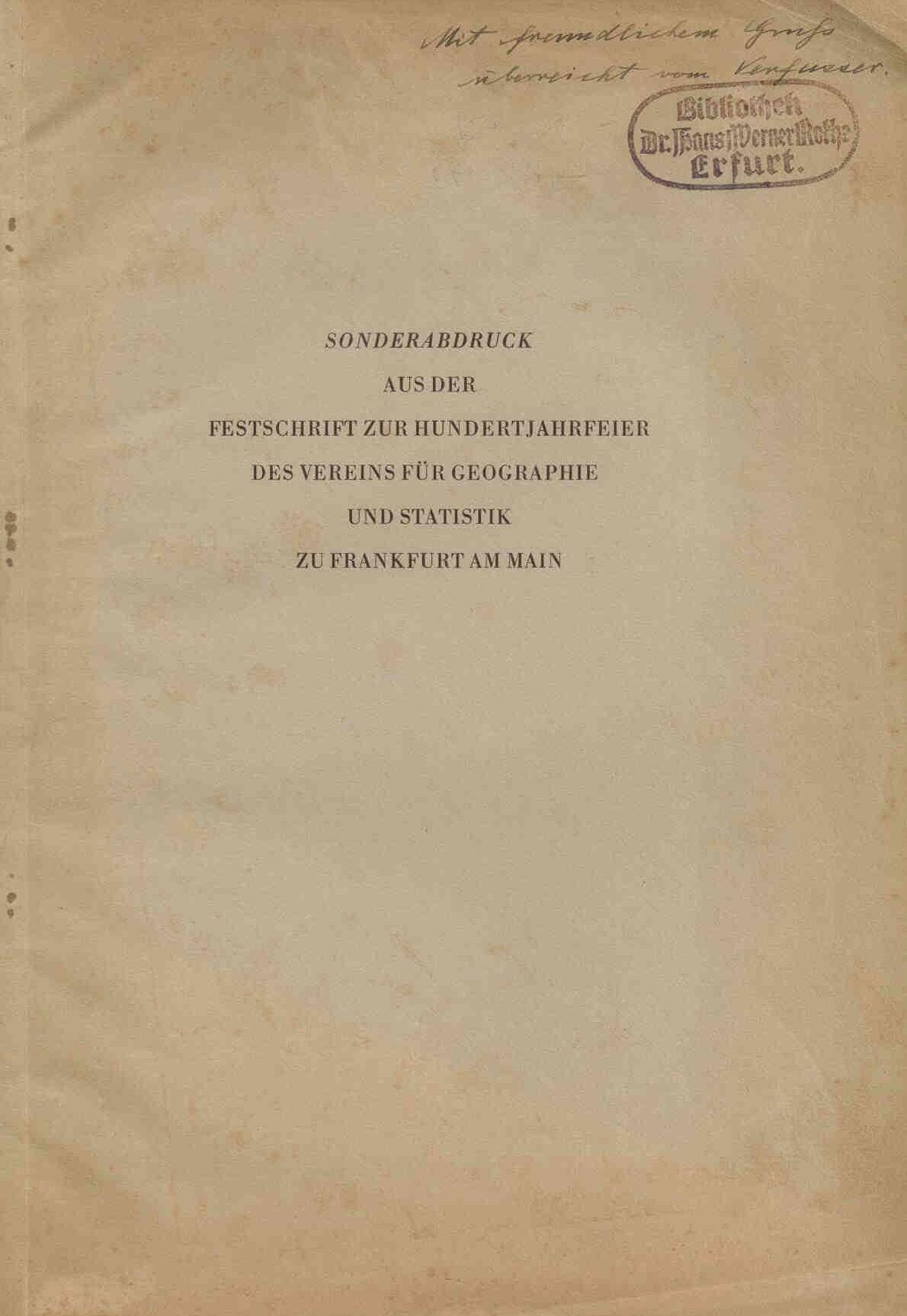 Hannemann, M.: Morpholologische Untersuchungen im Hessischen Bergland. Ein Beitrag zur jüngsten Tektonik des deutschen Bodens