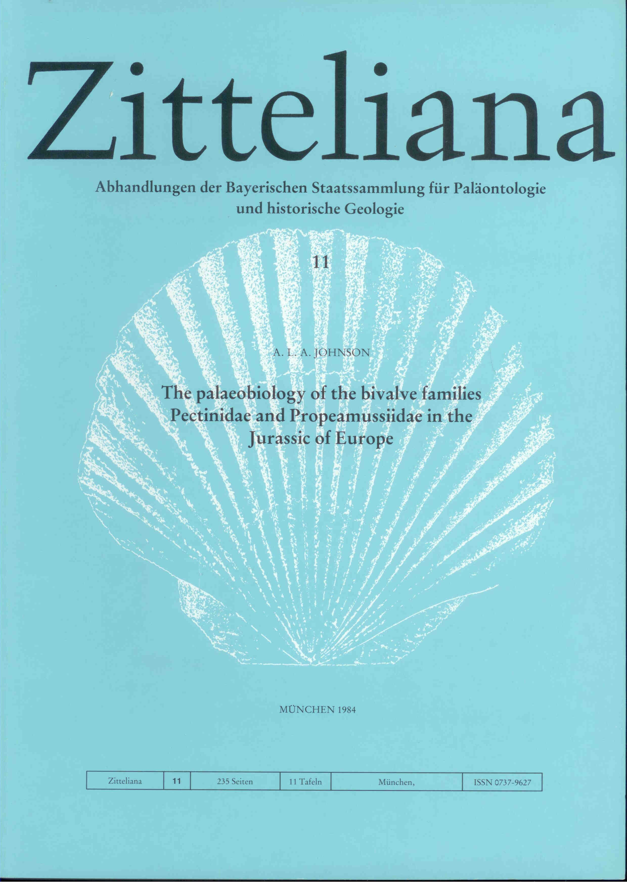 Johnson A. L. A.: The palaeobiology of the bivalve families Pectinidae and Propeamussiidae in the Jurassic of Europe. ZITTELIANA 11