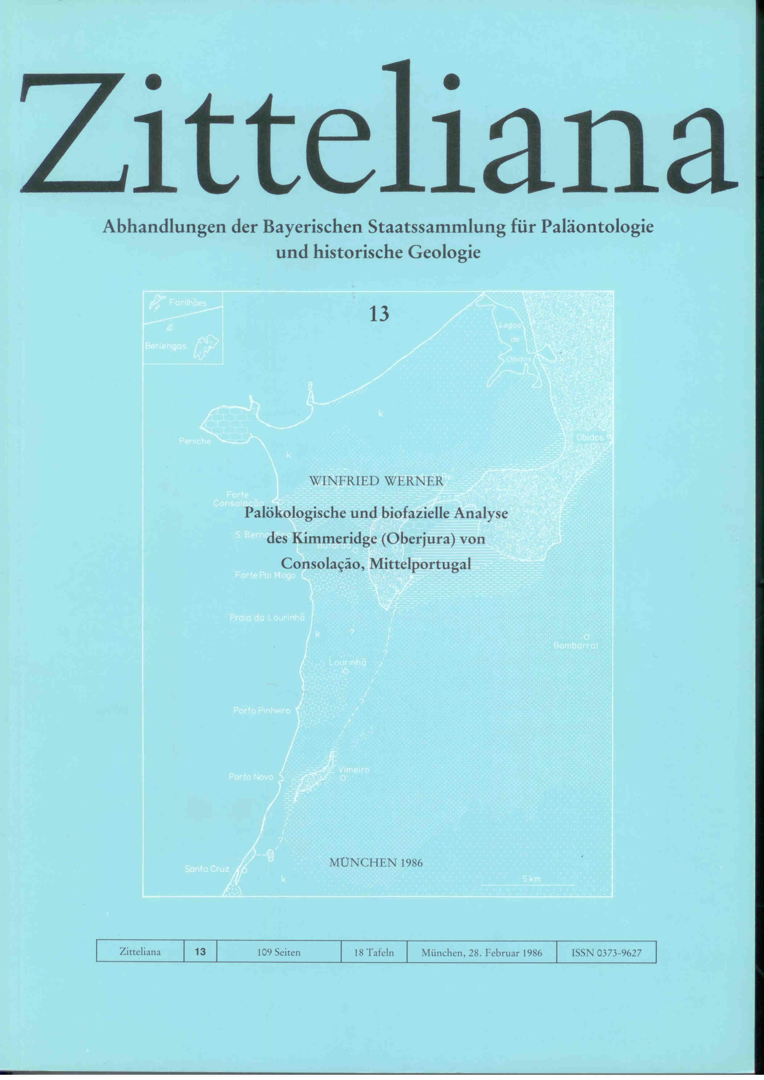 Werner W.: Palökologische und biofazielle Analyse des Kimmeridge (Oberjura) von Consolacao, Mittelportugal.  ZITTELIANA 13