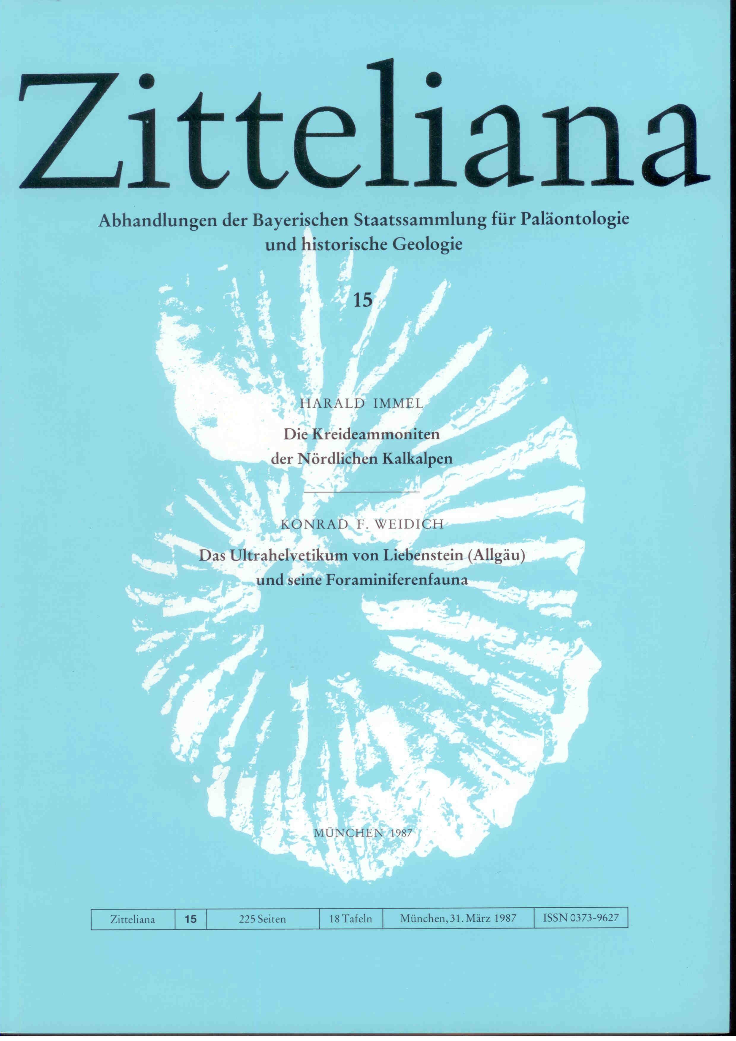 Immel H., Weidlich K.: Die Kreideammoniten der Nördlichen Kalkalpen. Das Ultrahelvetikum von Liebenstein (Allgäu) und seine Foraminiferenfauna.  ZITTELIANA 15