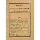 Zeitschrift der Deutschen Geologischen Gesellschaft. Band 86, Heft 1, 15. 02. 1934.